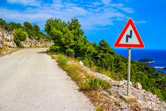 Mediterranean road Stock Photos
