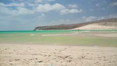 Beautiful empty beach - stock footage