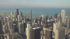 Beautiful aerial view of Chicago's skyscrapers by day, Illinois, USA Stock Footage