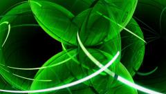 Green spherical leaves Stock Footage