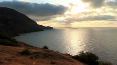 Timelapse sunrise in the mountains. Mountain Meganom, Crimea, Ukraine Stock Footage