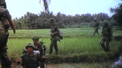 1st Cavalry Division, Patrol, Vietnam 1966 Stock Footage