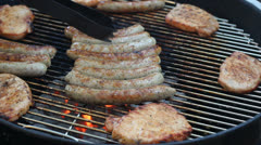Barbecue 3 Stock Footage