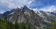 Mountain range in a summer day Stock Photos