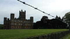 Highclere Castle & security 2 Stock Footage