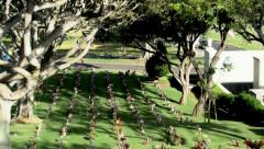 Memorial Day National Memorial Cemetery of the Pacific Stock Footage