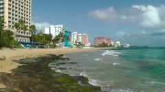 Condado Beach - stock footage