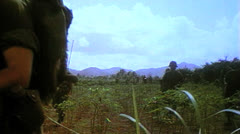Stock Video Footage of 1st Calvary Division, Vietnam,  Patrol, 1966