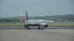 US Airways passenger jet Stock Footage