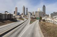 Stock Photo of downtown atlanta empty highway