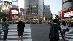 Stock Video Footage of Shibuya Crossing, Tokyo, Japan
