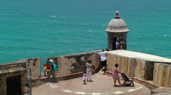 Tourist visit Morro Castle Stock Footage