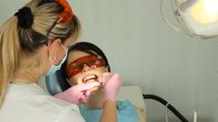 Teeth Whitening Dentistry Stock Footage