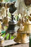 Bell at khachoedpalri lake in pelling, sikkim Stock Photos