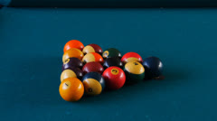 Pool table billiard eight-ball Stock Footage