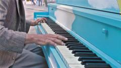 Jazz piano on Public Street Stock Footage