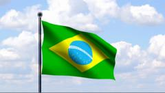 Animated Flag of Brazil - stock footage