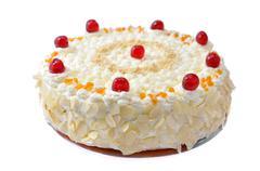 Birthday cake isolated Stock Photos