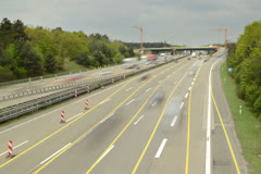 Frankfurt Autobahn 6K native Stock Footage
