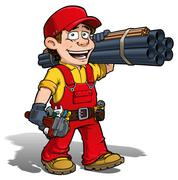 Handyman - plumber red Stock Illustration