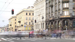 Nevsky prospect. Time lapse 1 Stock Footage