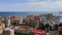 Malaga Coastline Cityscape TL Stock Footage