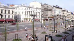 Nevsky prospect. Time lapse 2 Stock Footage