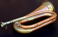 Old Army Bugle Stock Photos