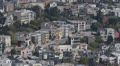 Crowded San Francisco Bay Aerial View Skyline Roofs Houses from Above California Footage