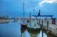 Stock Photo of the city port of rostock (germany)