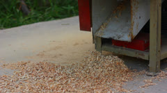 Sawdust falling down Stock Footage
