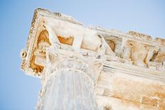 A fragment of the Temple of Apollo in Side. Stock Photos