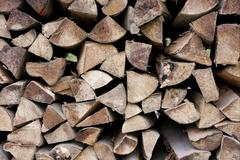 logpile - stock photo