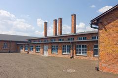 auschitz birkenau, fascist extermination camp ,poland - stock photo