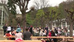 Garden Party in Karlovy Vary, Carlsbad, Karlsbad Stock Footage