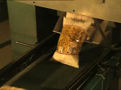 PASTA FACTORY packaging machinery package detail Stock Footage
