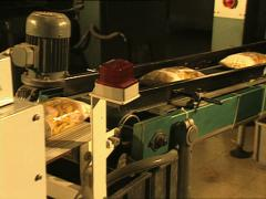 PASTA FACTORY packaging machinery full shot Stock Footage