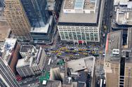 Stock Photo of new york city manhattan street aerial view