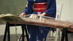 VAN DUSEN GARDENS VANCOUVER BC  APRIL 7 2013 Sakura Festival Koto performance Stock Footage