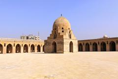 ibn tulun ablutions dome - stock photo