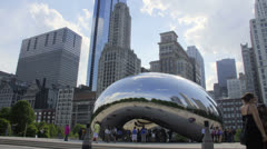 Chicago Bean Wide Angle 2k Stock Footage