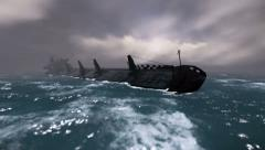 Sinking ship Stock Footage
