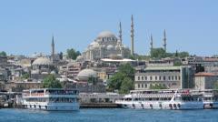 Suleymaniye Mosque in Istanbul Turkey (Editorial) Stock Footage