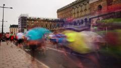 Stockholm Marathon, time-lapse Stock Footage