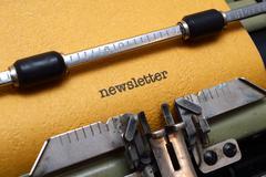 Newsletter text on typewriter Stock Photos