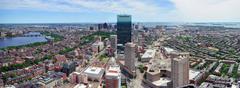 Boston skyline arial panorama Stock Photos