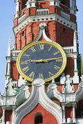 Kremlin chimes of the spassky tower Stock Photos