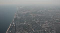 Aerial view South Florida coastline Stock Footage