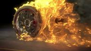 Stock Video Footage of Burnout on fire loop