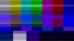 Color Bars Data Glitches (25fps) - stock footage